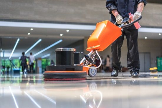 cleaning of different floor surfaces