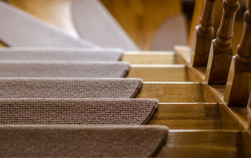 different ways to carpet stairs